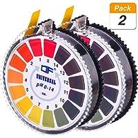 Universal pH Test Paper Strips pH Test Strips Roll, pH Measure Full Range 0-14, 2 Rolls, 16.4 ft/Roll
