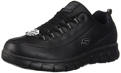 skechers slip resistant shoes memory foam