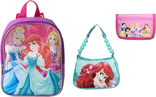 New Little Girls Princess Mini Backpack with Bonus Hanbag and wallet