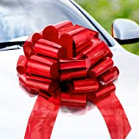 Zoe Deco Big Car Bow (Red, 46 cm, 1 Pack), Gift Bows, Giant Bow for Car, Birthday Bow, Huge Car Bow, Car Bows, Big Red…