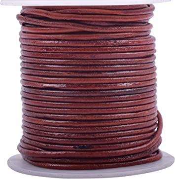 11 yards Pink Metallic Round Leather Cord 1mm 10 meters