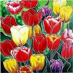 Bloom 8x8 by Benaya Tile Picture Trivet Daff