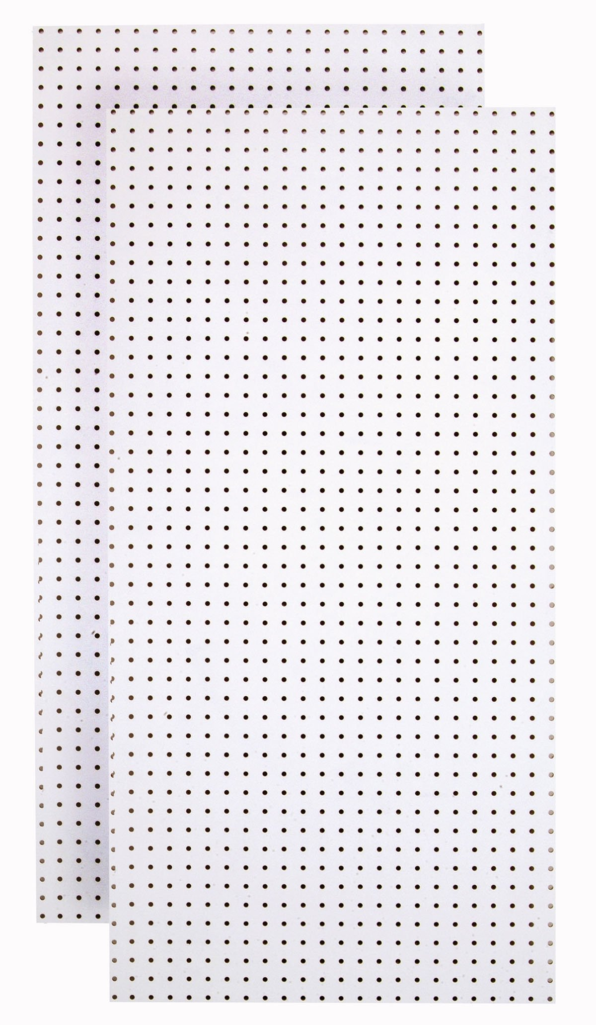 Tempered Wood Pegboard TPB-2WF 24-Inch W x 48-Inch H x 1/4-Inch D Custom Painted Heavy Duty Round Hole Pegboards, Blissful White