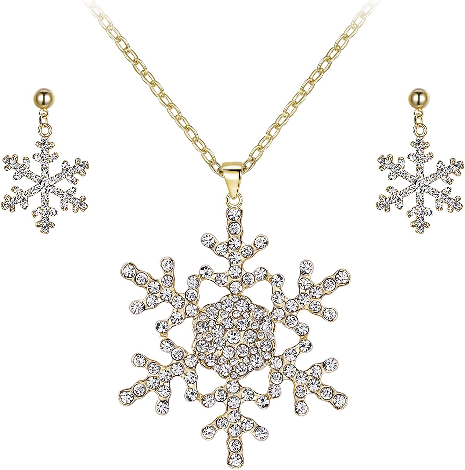 Gold Snowflake Necklace for American Model 22 in Doll