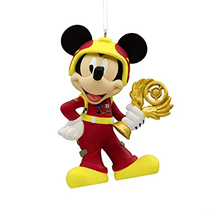 hallmark christmas ornament disney mickey mouse mickey and the roadster racers - Christmas Mickey Mouse