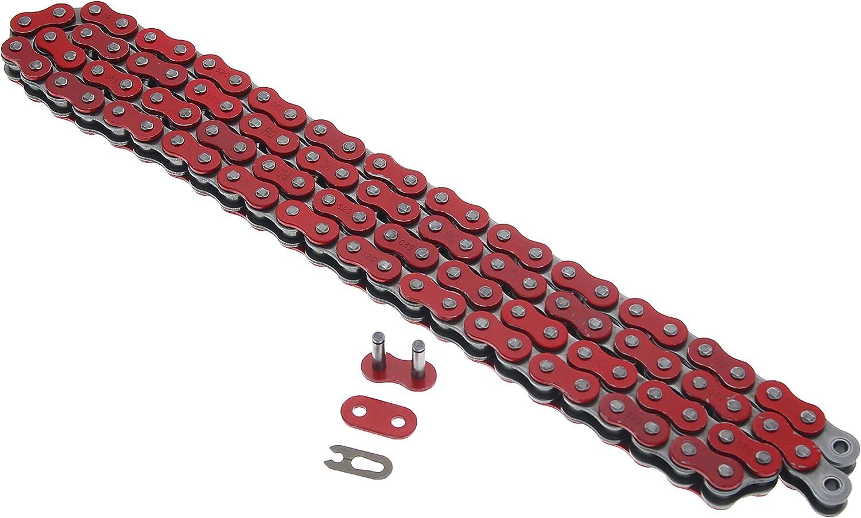 Fits Honda TRX250R 250R 520-96 Red Non O Ring Chain /& Sprocket Silver 13//38