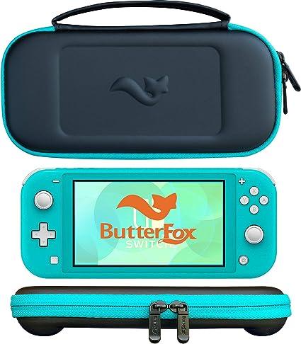 ButterFox - Carcasa Ultrafina para Nintendo Switch Lite con 9 Juegos y 2 Soportes para Tarjetas Micro SD, Color Azul y Negro: Amazon.es: Electrónica