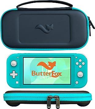 ButterFox - Carcasa Ultrafina para Nintendo Switch Lite con 9 Juegos y 2 Soportes para Tarjetas Micro SD, Color Azul ...