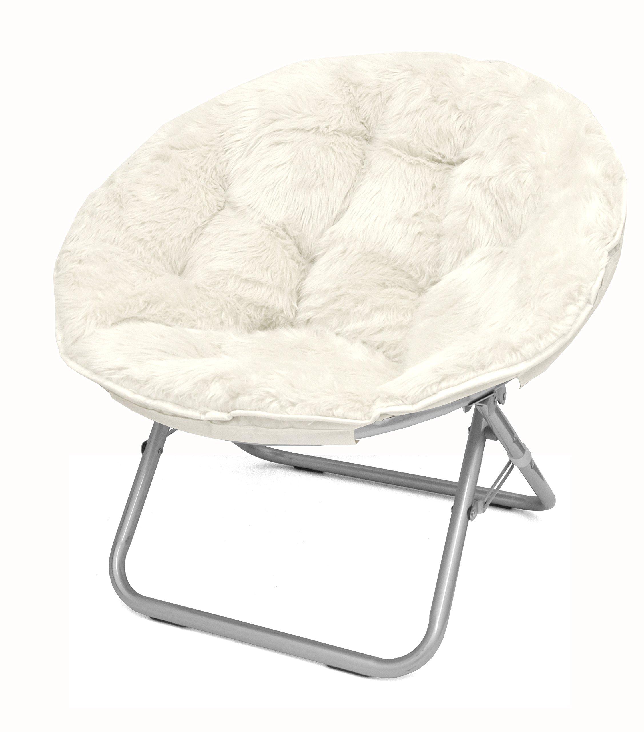 Urban Shop Mongolian Faux Fur Saucer Chair by Urban Shop