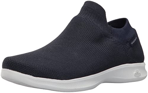 Skechers Go Step Lite-Ultrasock, Sneaker a Collo Alto Donna, Blu (Navy/White), 35.5 EU