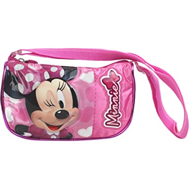 Image Unavailable. Image not available for. Colour  Girls Pink   Black  Striped Disney Minnie Mouse Shoulder Bag 3fe4115c01