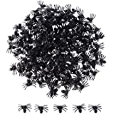 Sumind 200 Pack Halloween Black Spiders Plastic Spiders Party Favors for Halloween Decorations