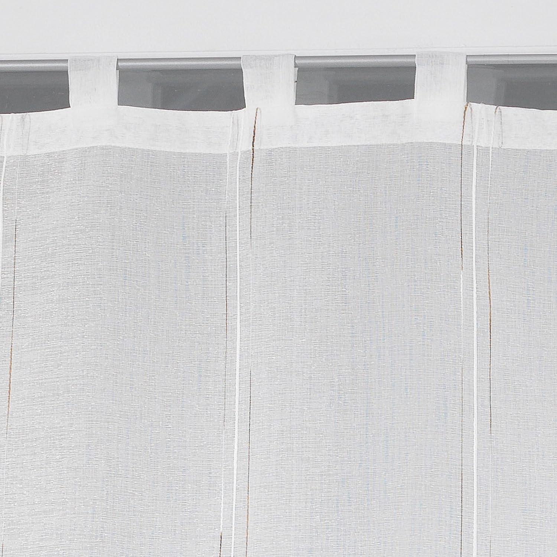 Douceur dInt/érieur Paire Droite de Voilage Tissu//Polyester Naturel Siane Blanc 2 x 60 x 90 cm