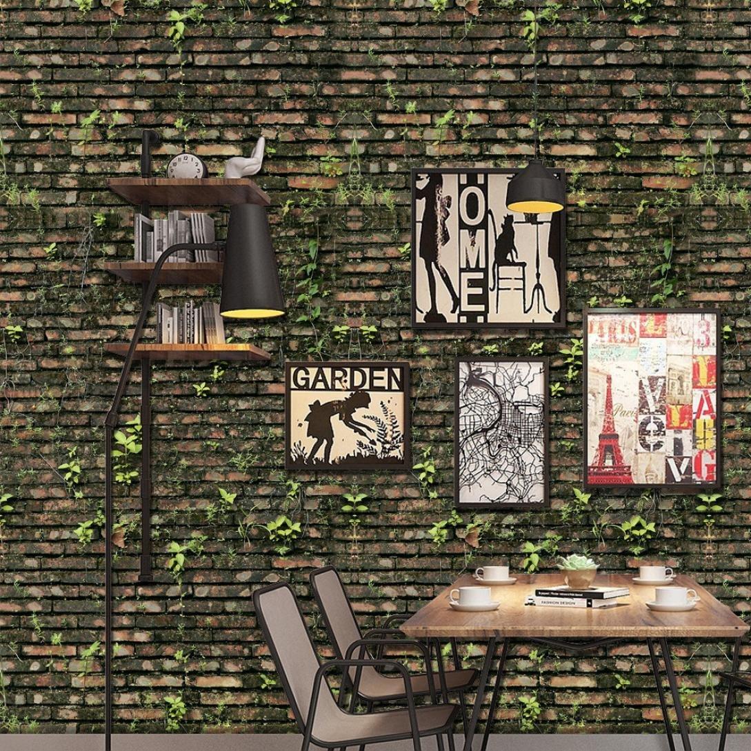 STRIR 3D Papel tapiz impermeable de pvc auto-adhesivo de pared Cocina Bañ o Dormitorio 40x160 cm,Forro para estante rú stico de madera,papel de contacto vinilo autoadhesivo para encimera de cocina, armarios, cajones y muebles de pared adhesiv
