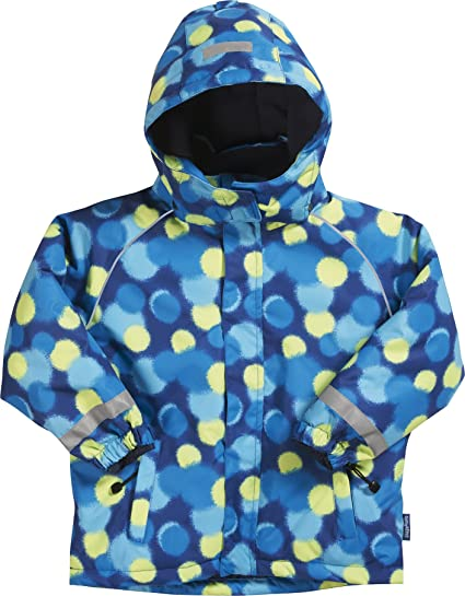 59d535b42 Playshoes Boy's Waterproof and Breathable Snow, Ski Jacket and Snowboarding  Allover, Blue (Original