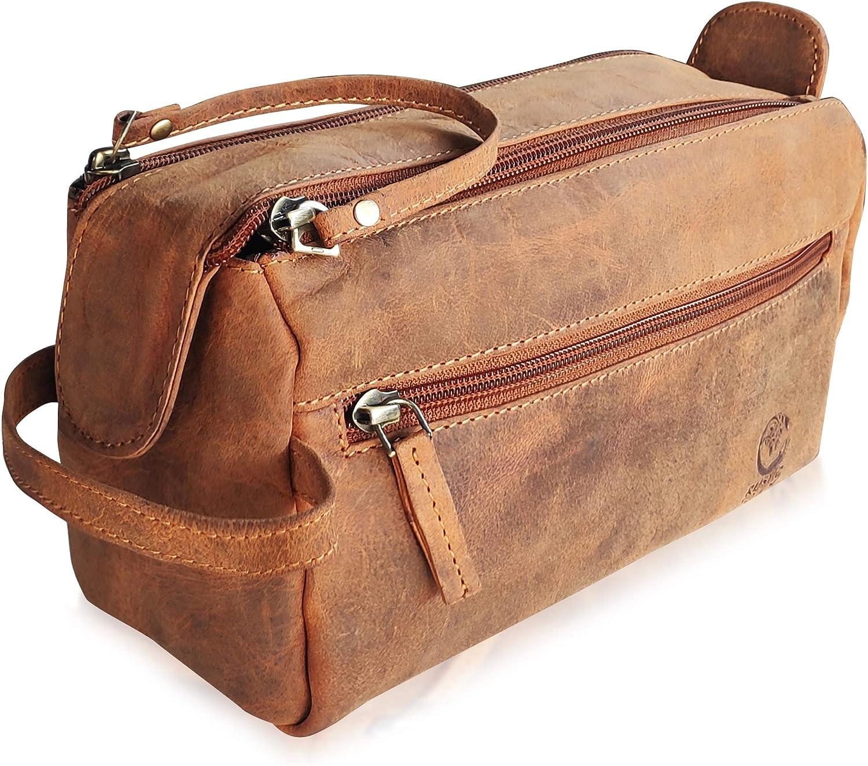Piel Compacto de Viaje Bolsa de Aseo Hombre Mujer Venta Piel Dopp Kit Kit de Viaje pequeño
