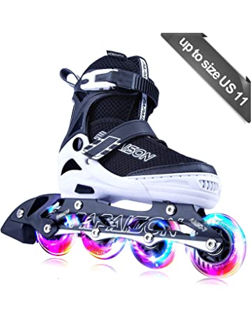 394ebb2cc86e5 PAPAISON SPORTS Adjustable Inline Skates for Kids and Adults with Full  Light Up LED Wheels