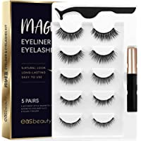 easbeauty 2020 Upgraded Magnetic Eyeliner and Eyelashes Kit, Magnetic Eyelashes with Eyeliner, False Lashes 5 Pairs with…