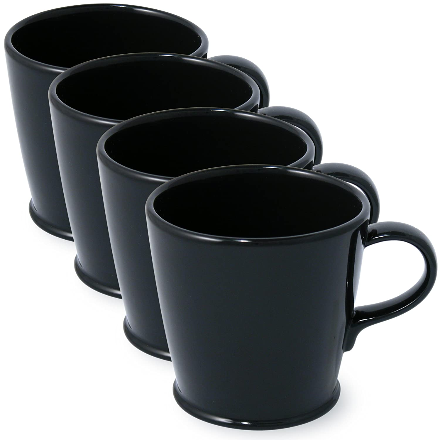 Set of 4 FORLIFE Ringlet Cafe Cup Red 370-RED-4 10-Ounce
