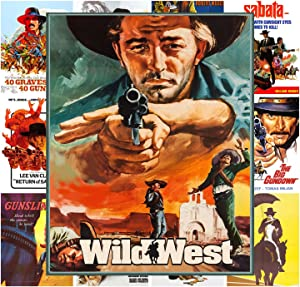 Mini Posters Set [13 posters 8x11] Western Cowboys Wild West # Movie Poster Reprint