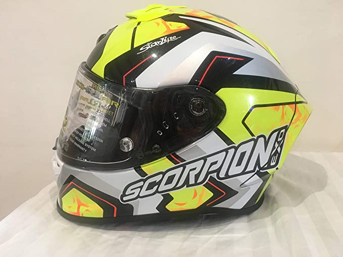 Detalles de Casco Moto Scorpion Exo R1 Air Réplica Alvaro Bautista Talla M