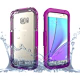 Galaxy S7 Edge Case, Moonmini Waterproof Shockproof Dirtproof Snowproof Case Cover for Samsung Galaxy S7 Edge (2016) Hot Pink