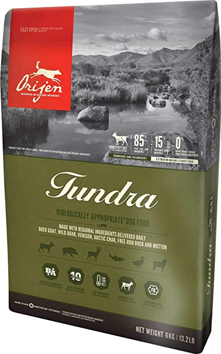 Orijen Biologically Appropriate Dog Food, Made in the USA, Tundra, 13.2 Pounds