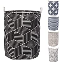 HOKIPO® Folding Laundry Basket for Clothes, Round Collapsible Storage Basket - Large 43 LTR