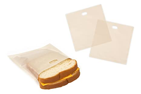 Bolsas de tostadora reutilizables ideal para tostar sándwiches aperitivos pastas Pizza Asar a la parrilla Pack de 6
