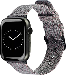 ALADRS Nylon Strap Compatible with Apple Watch Band 42mm 44mm, Red