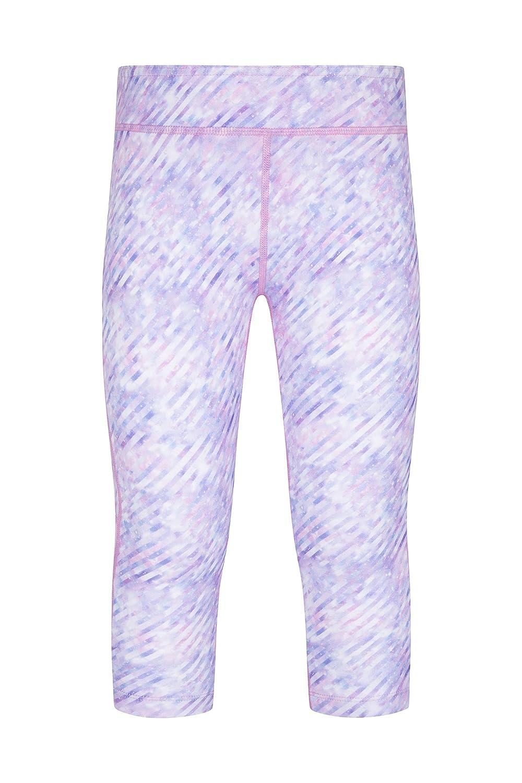 Zakti Kimberly Wyatt Move to The Beat Capri Leggings - Mesh Ventilation Summer Trousers, Fast Drying Pants, Geometric Print Tights -for Gym, Sports, Running Running Limelight 13 Years Zakti Active