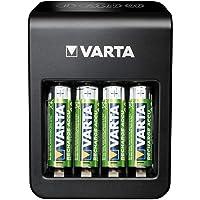 VARTA Plug Charger+, lader voor accu's in AA/AAA/9V en USB-apparaten, laden via individuele laadschacht, incl. 4x AA…