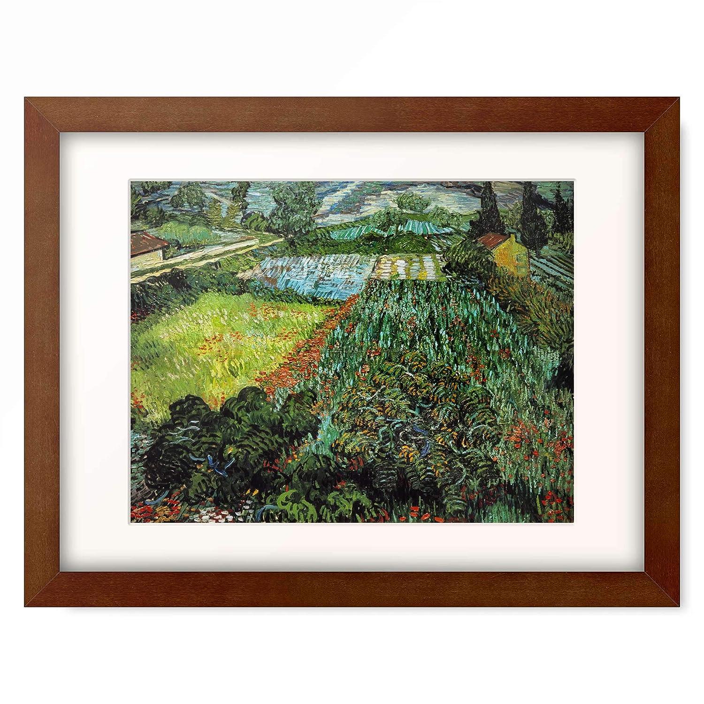 フィンセントファンゴッホ Vincent Willem van Gogh 「Field with Poppies」 額装アート作品 B07PGDR4SC 05.木製額 22mm(ブラウン) XL(額内寸 727mm×545mm) XL(額内寸 727mm×545mm)|05.木製額 22mm(ブラウン)