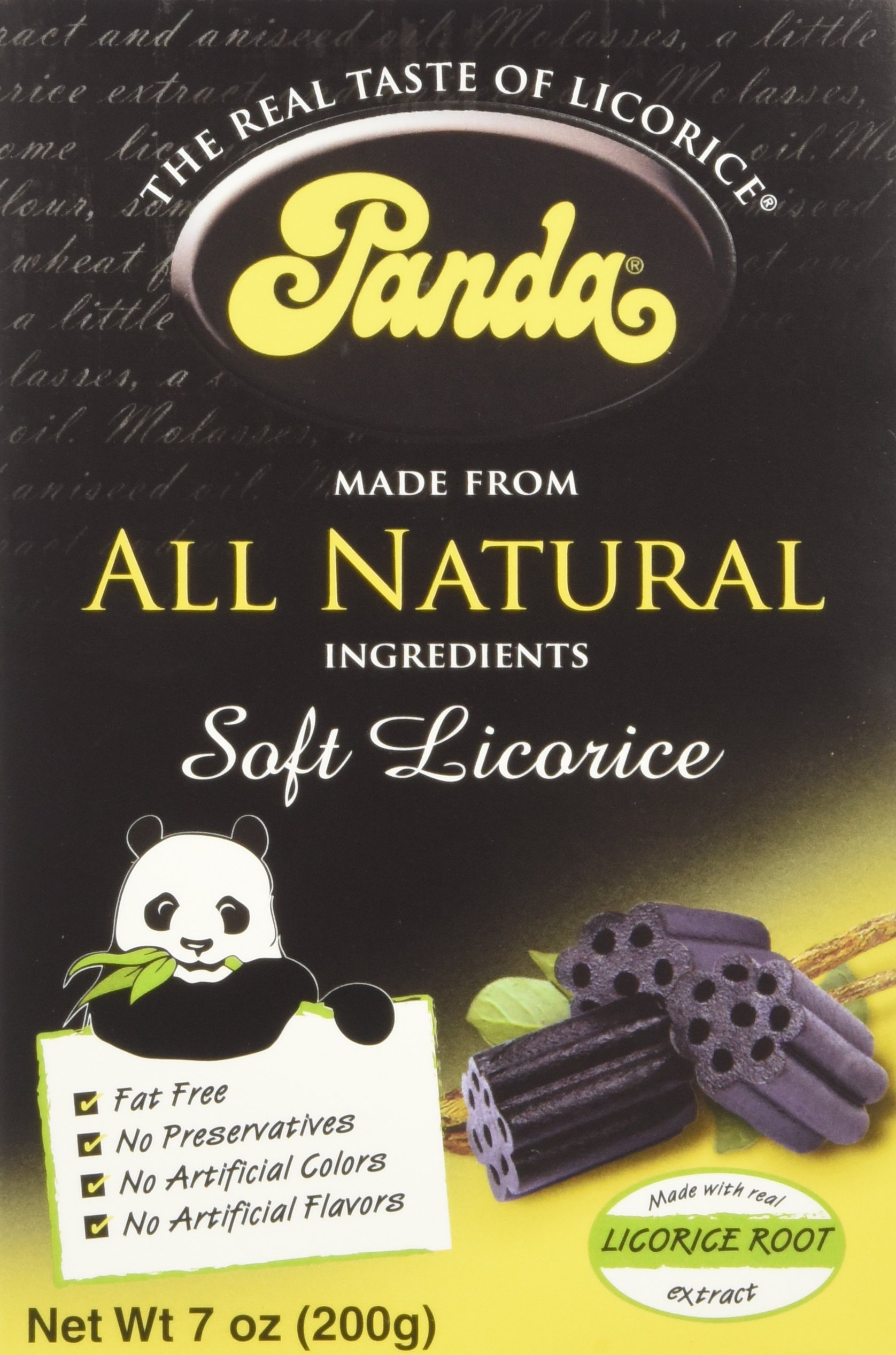 Panda Licorice, Licorice Chews, 7-Ounce Bags (Pack of 12)