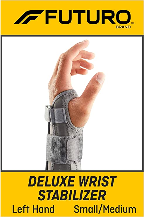 Helps Support Sprains Strains FUTURO Comfort Stabilizing Wrist Brace and Symptoms of Carpal Tunnel Syndrome One Size