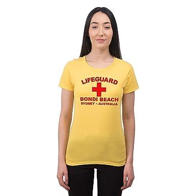ee66d50555252 Camiseta de Playa para Mujer Lifeguard Bondi Beach Sydney Australia Estilo  surfero  Amazon.es  Ropa y accesorios
