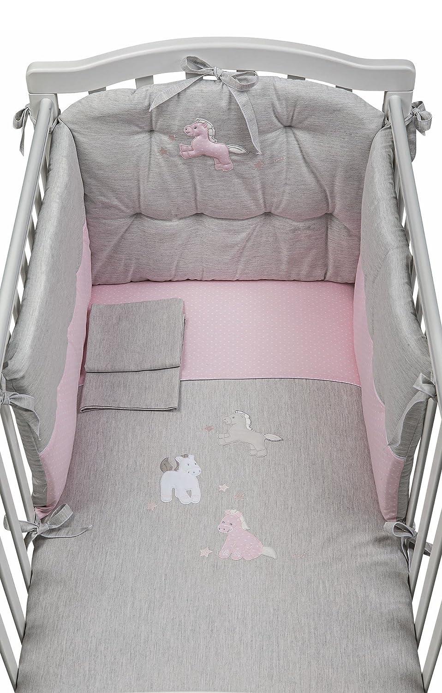 Komplett Steppdecke Picci Milky Aufl Melange Pink