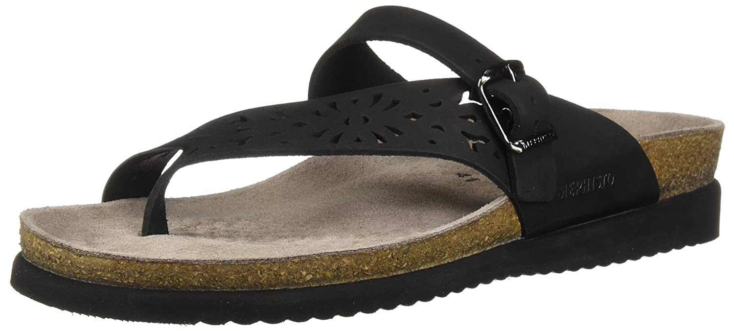 Mephisto Women's Helen Perf N Slide Sandal, Black, 11 M US B076Q78397 Parent