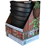 Akro-Mils Vertical Hanging Garden Planter, 13-Inch, Bronze, Set of 5
