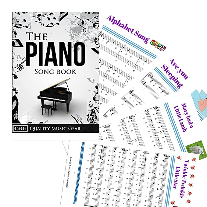 Piano and Keyboard Music Note Stickers with Piano Songs eBook & User  Guide©
