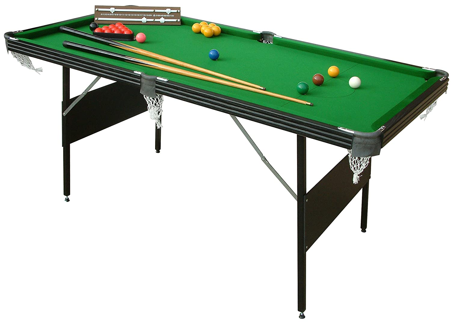 Exceptional Mightymast Leisure Crucible 2 In 1 Fold Up Snooker/Pool Table   Green, 6  Ft: Amazon.co.uk: Sports U0026 Outdoors