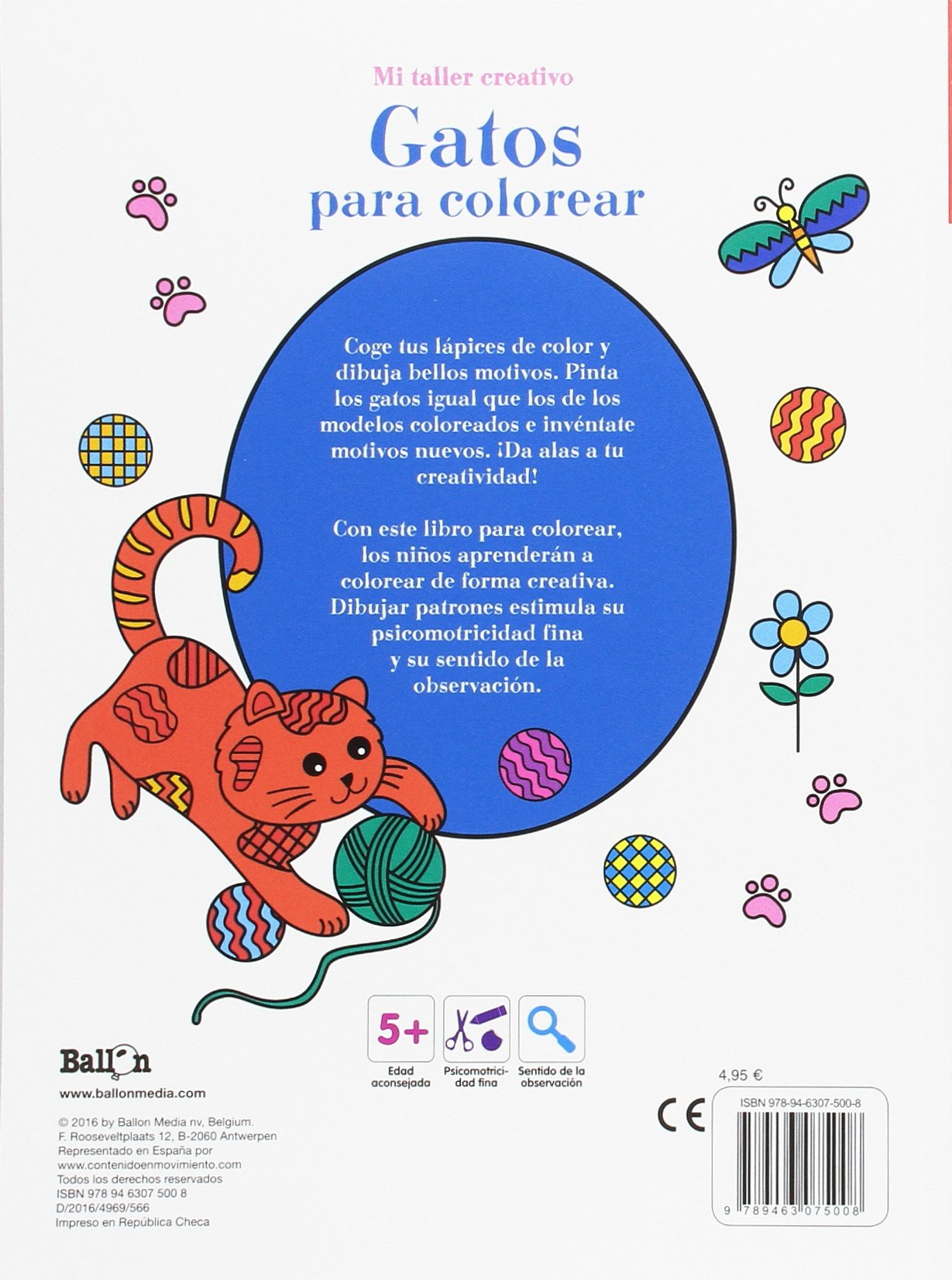 Gatos para colorear - Mi taller creativo: Ballon: 9789463075008: Amazon.com: Books