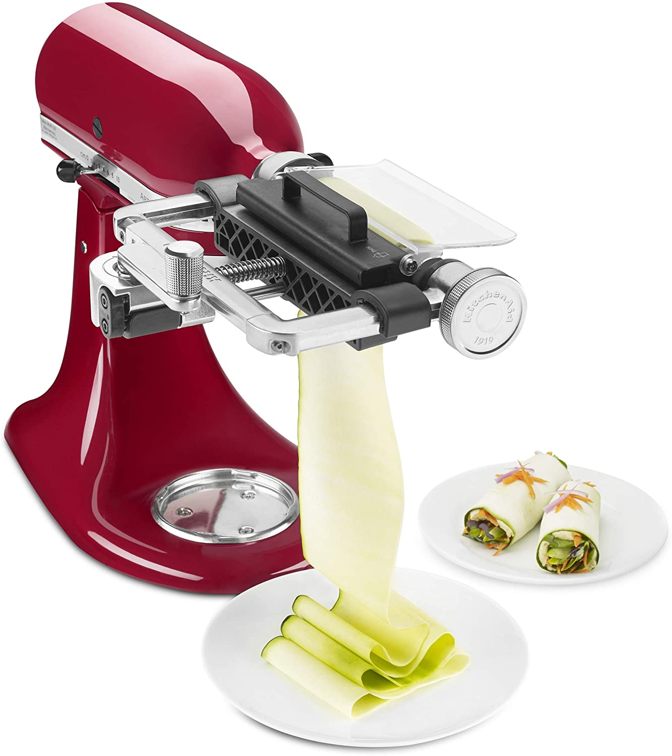 B072TNMLNF KitchenAid KSMSCA Vegetable Sheet Cutter, 1, Metallic 71GvEaLmVwL.SL1500_