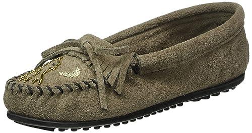 Mocasines mujer tipo indio Minnetonka Moko Moc Gris, Gris (Braun), 36: Amazon.es: Zapatos y complementos