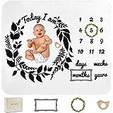 Ellie Quinn - Baby Monthly Milestone Memory Blanket for Newborn Babies: Baby Boy, Baby Girl, Unisex | Premium Super Soft Flee