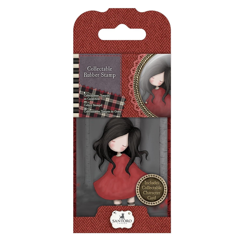 DOCrafts GOR907318 Santoro Rubber Stamps Red 18 Poppy Wood No