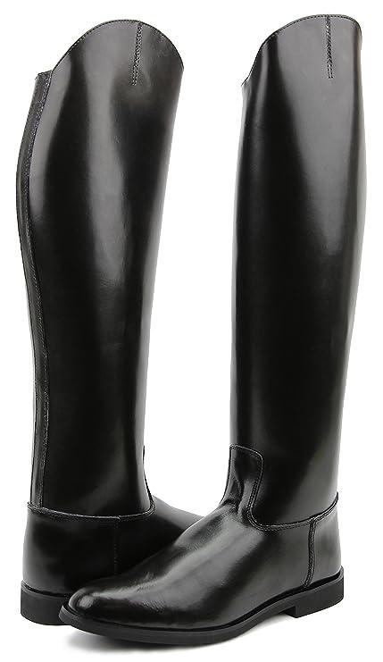 c1a180475e986 Hispar Women Ladies Decent Dress Dressage Boots Without Zipper Riding  English Equestrian (Black, 6