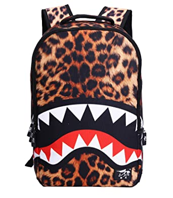 Unisex Casual Daypack Unique Shark Backpacks