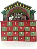 Christmas Nativity Design Decoration Wooden Advent Calendar クリスマスの誕生日のデザインの装飾クリスマスの装飾のための24個の引き出しと木製アドベントカレンダー