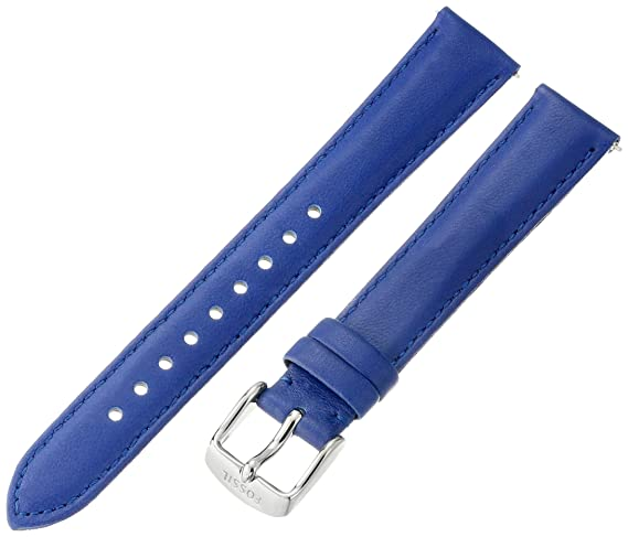5864bb6b4 Image Unavailable. Image not available for. Color: Fossil Women's S161014 Blue  Leather 16mm Watch Strap